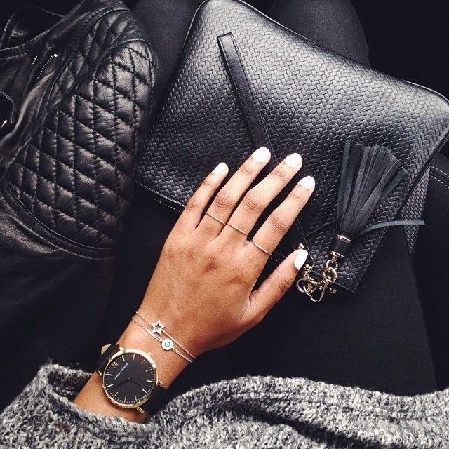 Leather, knit & fine jewelry