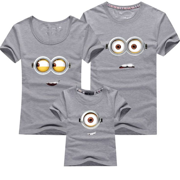 Cool Short Sleeve Minions Family Matching Cotton T-Shirt //Price: $11.99 & FREE Shipping // #fashion