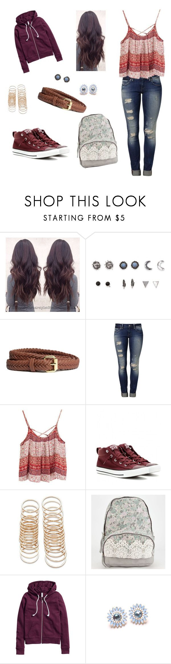 """school"" by spring-roll ❤ liked on Polyvore featuring With Love From CA, H&M, Mavi, Converse and Forever 21"