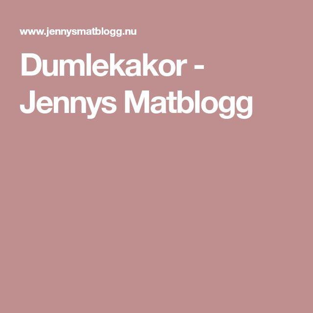 Dumlekakor - Jennys Matblogg