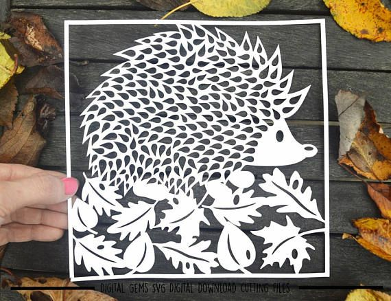 Hedgehog paper cut svg / dxf / eps / files and pdf / png