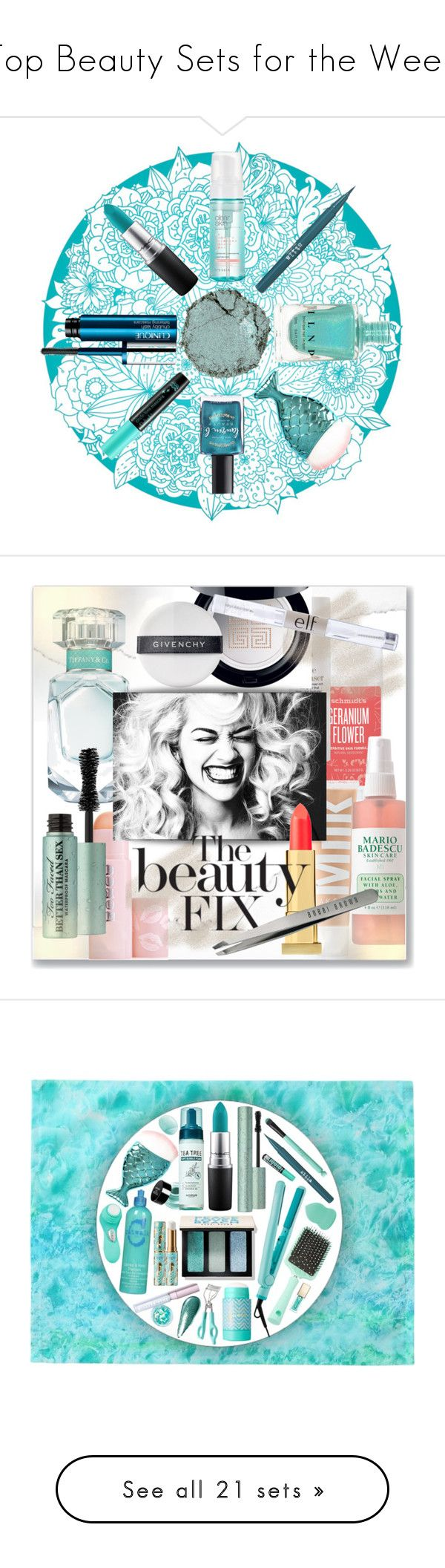 """""""Top Beauty Sets for the Week"""" by polyvore ❤ liked on Polyvore featuring beauty, MAC Cosmetics, Clinique, Stila, Lauren B. Beauty, Chantecaille, TONYMOLY, Schmidt's, This Works and MILK MAKEUP"""