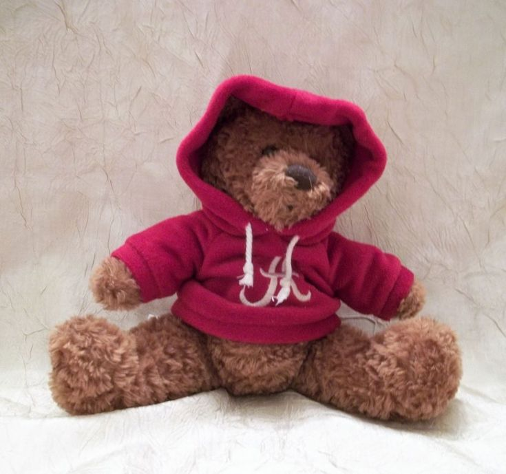 University Of Alabama Plush Bear with Hoodie Says Roll Tide & Plays Fight Song #AlabamaCrimsonTide