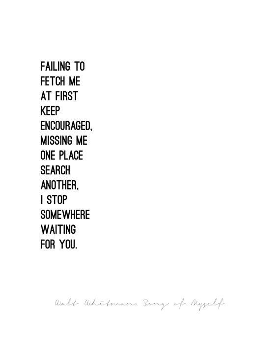 song to myself walt whitman quote - Google Search