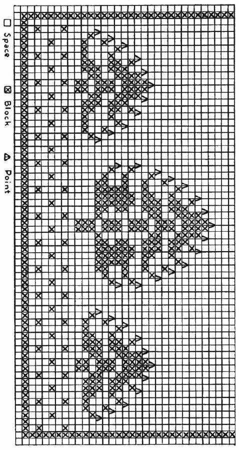 Christmas Tree Table Runner Free Filet Crochet Pattern - KarensVariety.com