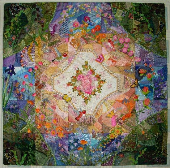 Crazy Quilting Stitches Patterns : 17 Best images about Quilts: Crazy Quilts on Pinterest Stitches, Quilt pillow and Crazy quilt ...