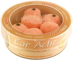 GIANTmicrobes   Ear Ache (Streptococcus pneumoniae)
