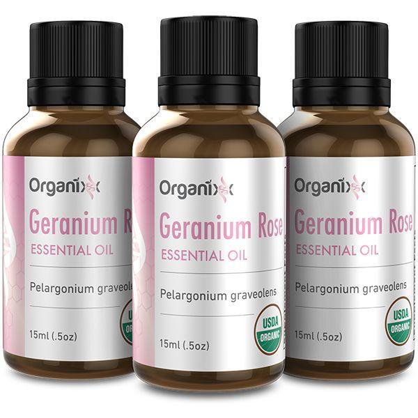 Geranium Rose Essential Oil 3 Bottles