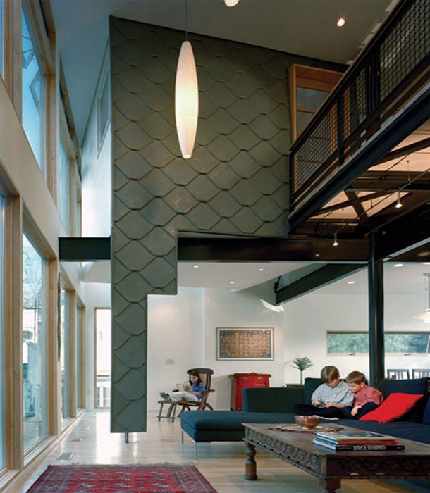 27 best double high space images on pinterest for Double height living room designs
