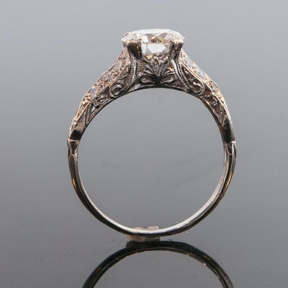 Antique 1920's Platinum Diamond Filigree by SITFineJewelry on Etsy. $10,575