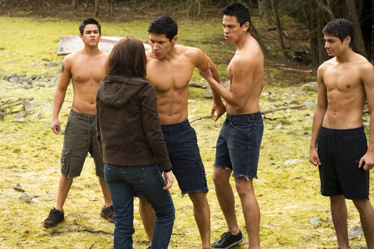 Bella meeting the wolf pack in New Moon