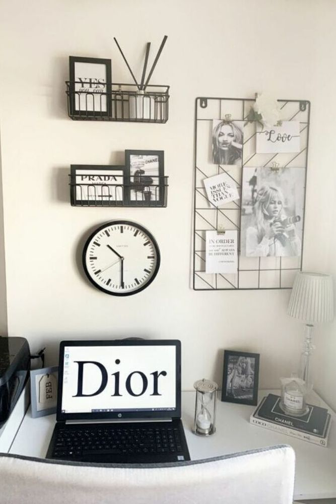 Home Office Wall Decor Idea On A Budget In 2020 Cheap Home Decor