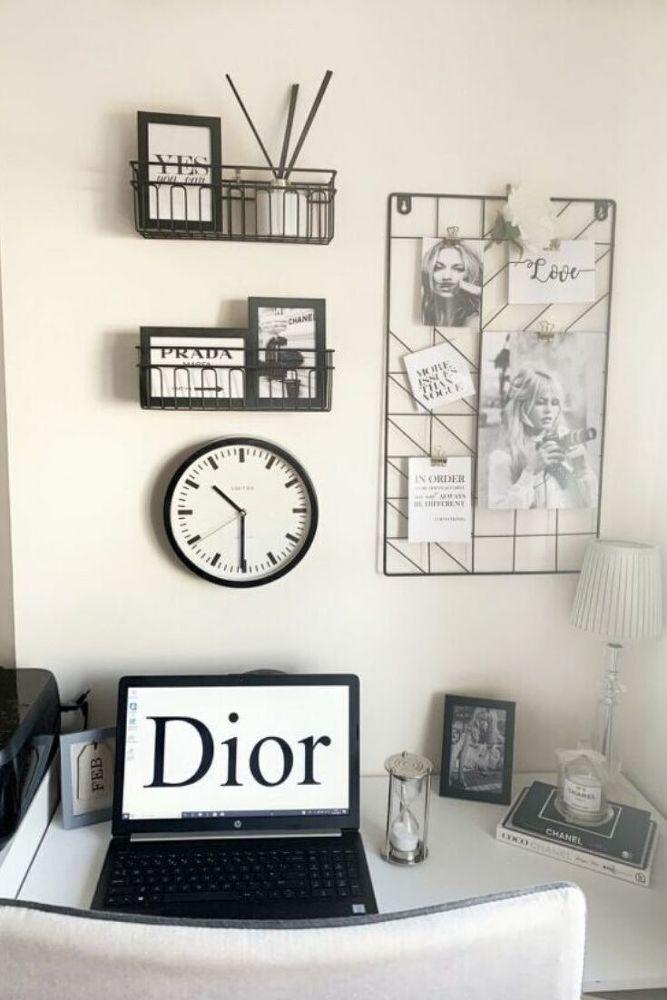Home Office Wall Decor Idea On A Budget Home Decor Home Office Organization Decor