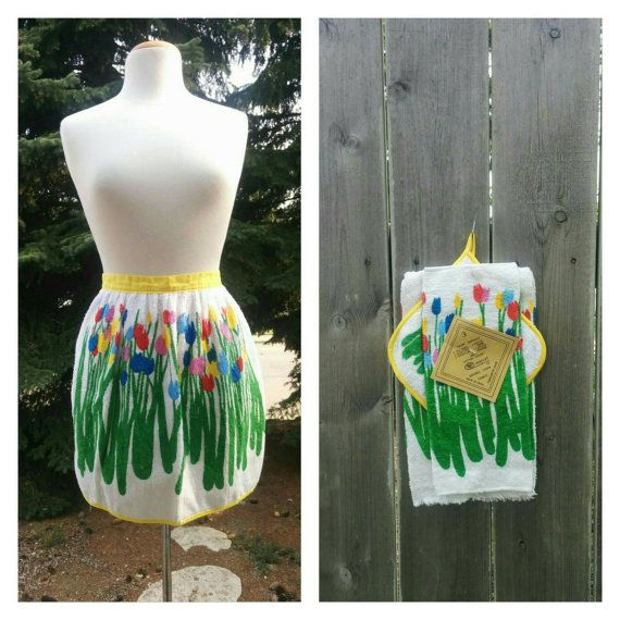 Check out this item in my Etsy shop https://www.etsy.com/listing/262942580/vintage-4-piece-terrycloth-apron-tea
