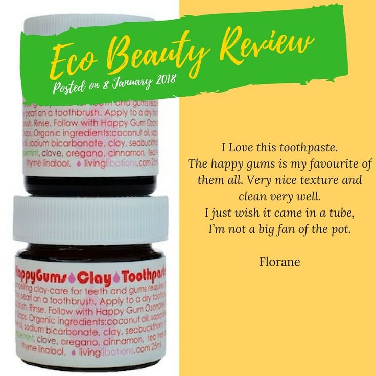 ❤️ A lovely review 〰 Happy Gums Clay Toothpaste (Living Libations) One Last Day - 10% Off  #naturaltoothpaste #organictoothpaste #organic #vegan #livinglibations #dutchhealthstore #ecobeautyreview