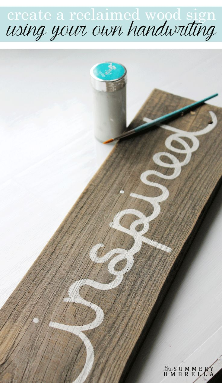 Learn How To Create A Reclaimed Wood Sign Using Your Own