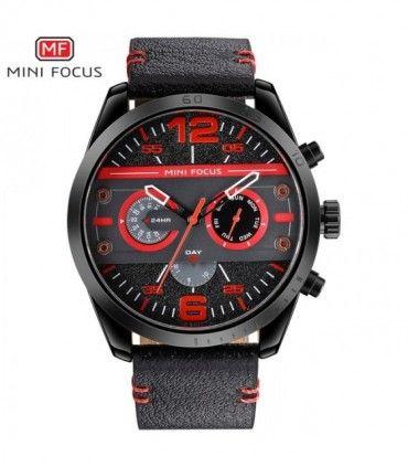 4e0e715563f3 Reloj cronografo militar cuarzo deporte Top marca de lujo correa de cuero -   111.800