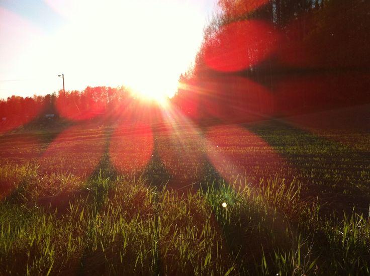 Sunset in Leppävaara, Espoo. May 2013.