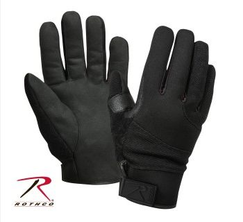 Rothco Cold Weather Street Shield Gloves/The Rothco's Cold Weather Street Shield Gloves with our Thermoblock insulation technology, which will protect your hands from the cold wet weather, can handle any extreme weather. The street shield glove features a tough, 100% cut resistant inner lining on the...