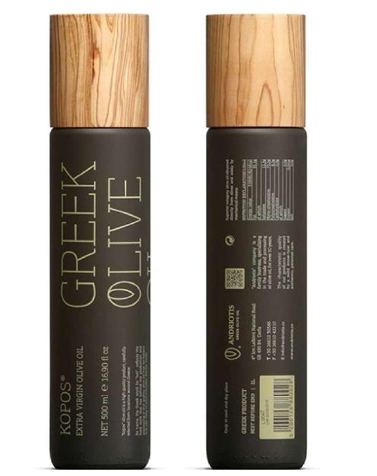 """Kopos Olivenöl Extra Nativ 500 ml - Sonderedition  Ein Geburtstagsgeschenk für Olivenöl-Liebhaber """"Kopos"""" Olivenöl Extra Nativ 500 ml - Sonderedition. Kopos-Olivenöl hat einen würzigen Duft der in Geruch und Geschmack an erntefrische, echt reife, fruchtige Oliven erinnert. Und das beste: Der Olivenholz-Verschluss ist handgedrechselt und kann  jede handelsübliche Flasche mit gleichem Durchmesser verschließen. Für das Design hat die Fa. Andriotis mehrere Preise gewonnen…"""
