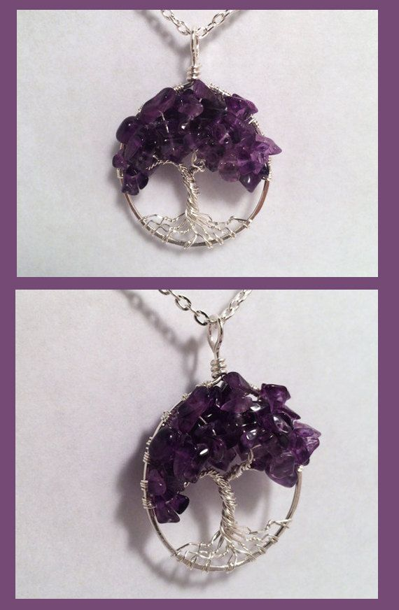 Sterling Silver Amethyst Tree Of Life Necklace by Just4FunDesign