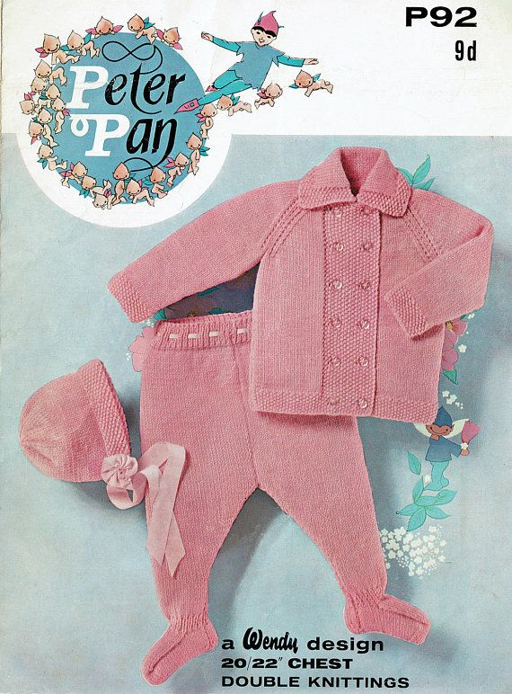 PDF Vintage Early Wendy 92 Peter Pan Baby PINK Pram Set