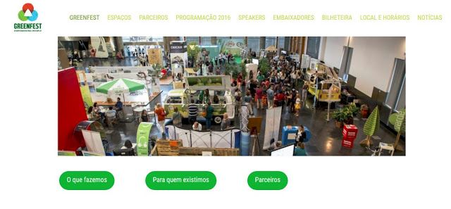 9th edition GREENFEST  6 to 9 OUT 2016 @Estoril