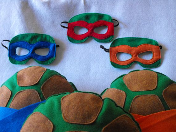 This listing is for one shell and mask. Rush shipping for halloween is included in the shipping cost! Teenage Mutant Ninja Turtle shells and mask