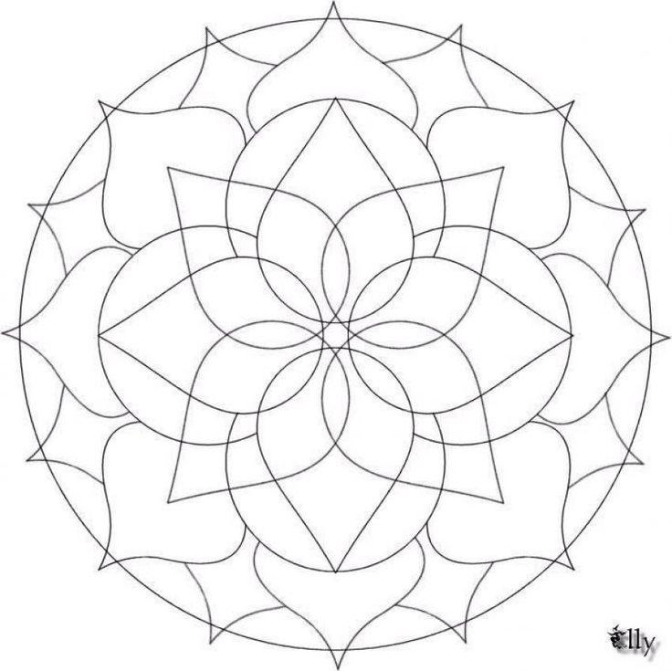 Difficult Mandala Coloring Pages | Mandala 19 - Mandalas for BEGINNERS