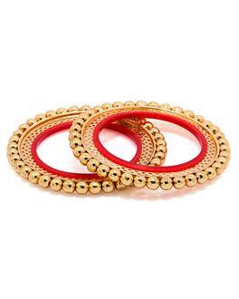 Bracelets: Astounding Rajasthani Bangdi Bracelet With Yellow Gold Toning