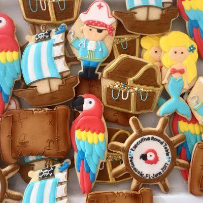 mermaid pirate cookies by oh sugar events