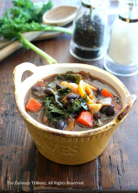 Black Bean Vegetable Soup | Culinary Tribune | Pinterest