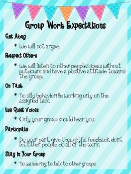 Group work expectations poster FREE