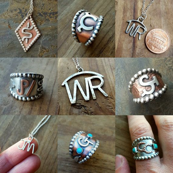 Custom Brand Ring  Cattle Brand Ranch Brand Monogram Ring
