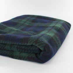 Black Watch Tartan Fleece Baby Blanket