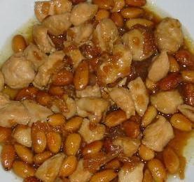 Pollo con almendras (Estilo chino)