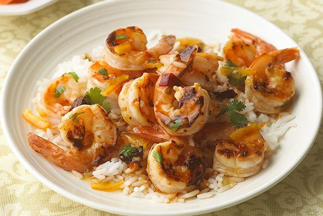 Bring together shrimp, chipotle peppers, orange marmalade and fresh cilantro tonight. This Shrimp in Chipotle-Orange Glaze is a zesty shrimp and rice dish!