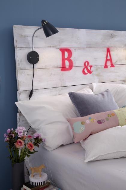 Do it yourself: Betthaupt selber bauen - komplette Anleitung für dieses DIY Projekt fürs Schlafzimmer. Welche Initialien zieren dann DEIN Betthaupt?