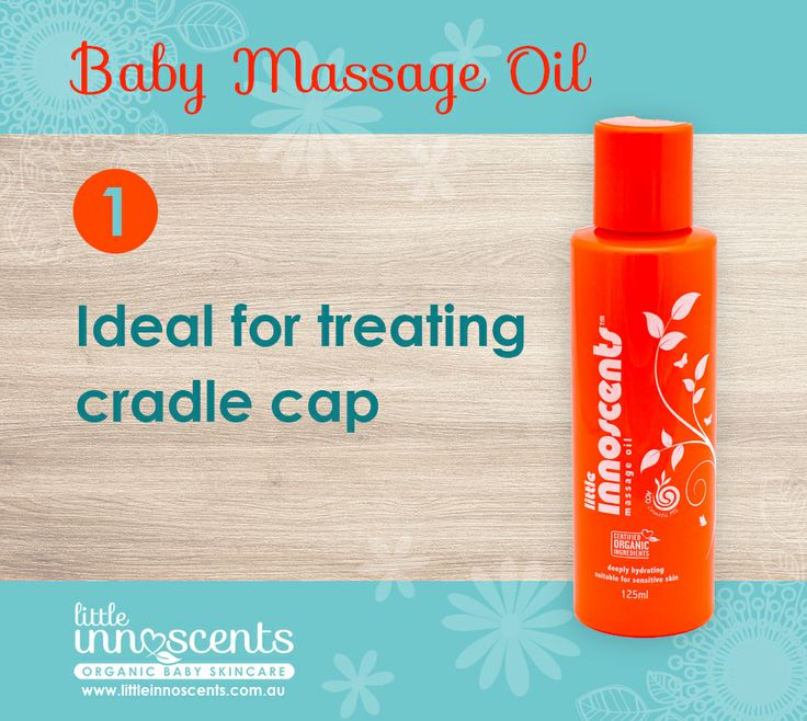 The Little Innoscents Baby Massage Oil is perfect for treating cradle cap in infants.  #organic #babycare #organicskincare #cradlecap