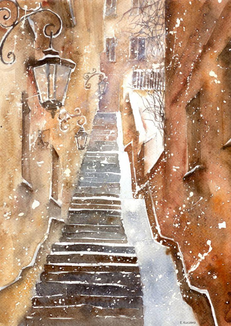 Stone steps in Warsaw by Kot-Filemon on DeviantArt
