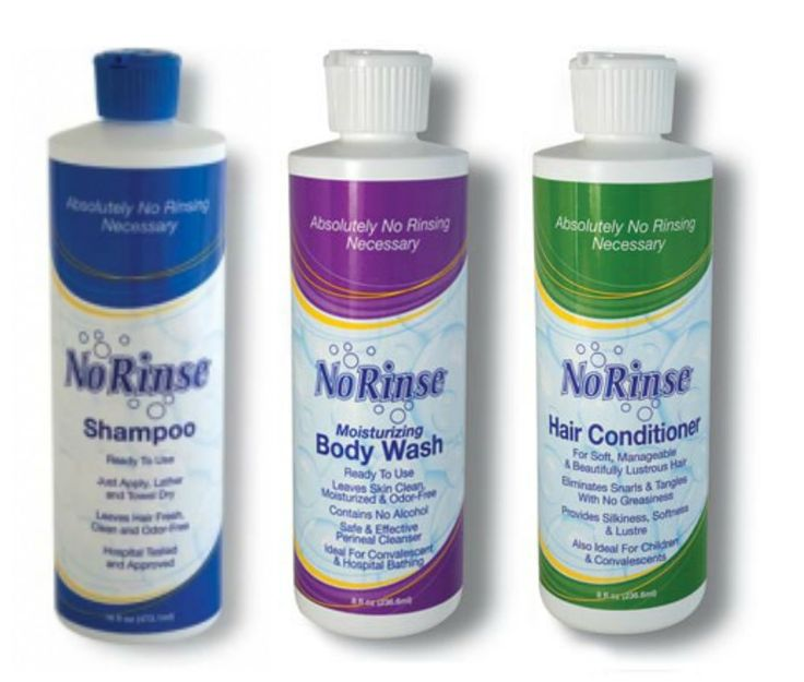 No-Rinse Shampoo, Conditioner, Body Bath