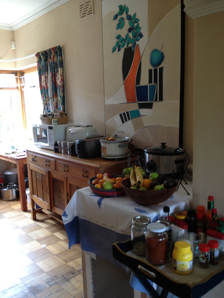 Our makeshift lounge kitchen for what we thought was 6 weeks but turned into 10!!