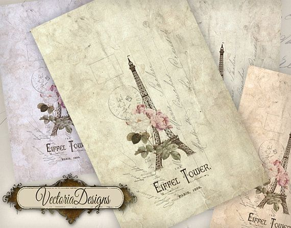 Paris Card 6.67 x 4.33 inch printable card by VectoriaDesigns