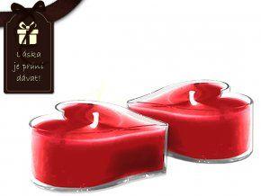 Čajové svíčky Valentýn