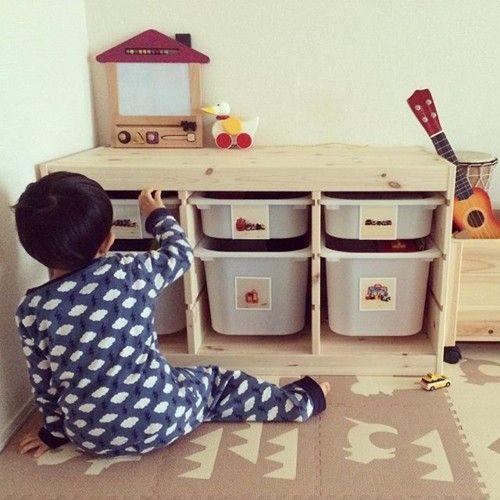 IKEAの収納家具「トロファスト」はママの味方!おもちゃや子供服を入れて使いこなそう [ママリ]