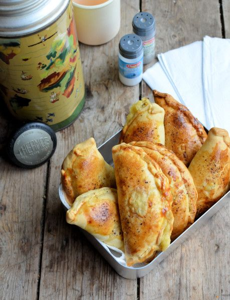 Lavender and Lovage | An Old Flask and Childhood Memories: Cheese, Onion and Potato Pasties Recipe | http://www.lavenderandlovage.com