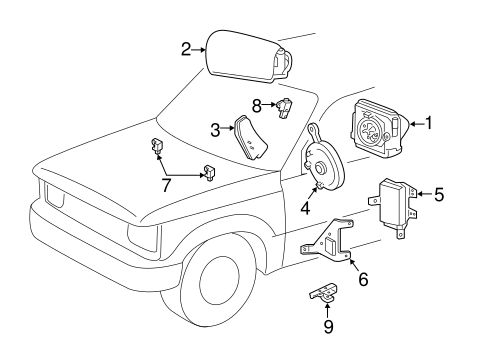 ELECTRICAL/AIR BAG COMPONENTS for 2009 Ford Ranger #2