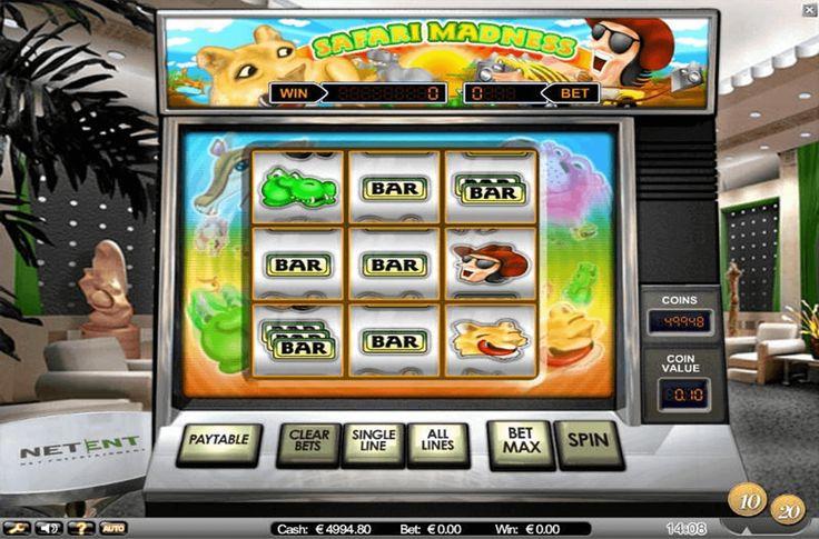 Wenn du dich in Las Vegas des vorigen Jahrhunderts versetzen willst, kannst du das dank den fesselnden klassischen einarmigen Banditen realisieren. Deshalb möchten wir dir das #Automatenspiel Safari Madness von #NetEnt vorstellen. Obwohl Safari Madness wie ein gewöhnlicher traditioneller Slot aussieht, ist es nicht genau so. Safari Madness ist ein ungewöhnliches 9-Walzen-Automatenspiel mit 8 Gewinnlinien.