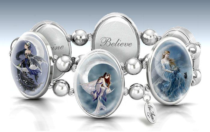 Fantasy Collectibles and Jewelry - Art Stretch Bracelet: Nene Thomas Moon Dreamer