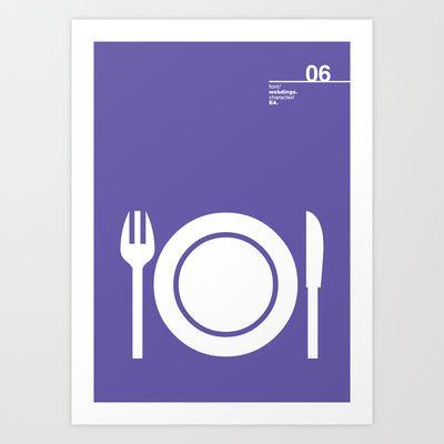 06_Webdings_E4 Art Print by Iris & Floss - $18.00